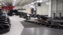 Savaş gemisinin demir atma testi böyle görüntülendi