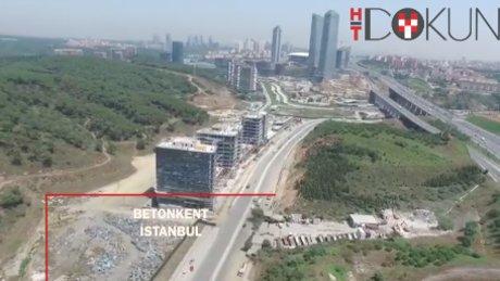 Havadan görüntülerle İstanbul'daki yeşil alan azlığı göze çarpıyor