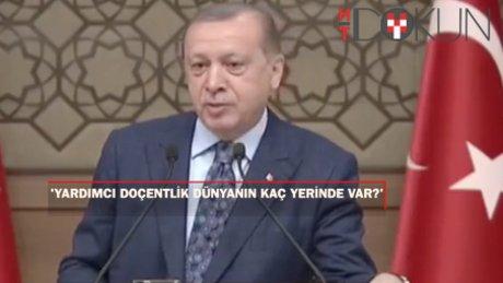 Erdoğan'dan YÖK'e 'Yardımcı Doçentlik' Çağrısı: Dünyanın kaç yerinde var?
