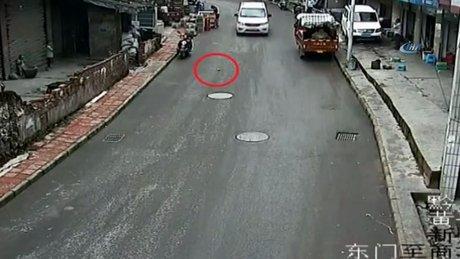 Çin'de akılalmaz kaza