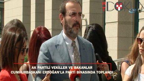 AK Partili vekil ve bakanlar Erdoğan'ın çağrısıyla toplandı