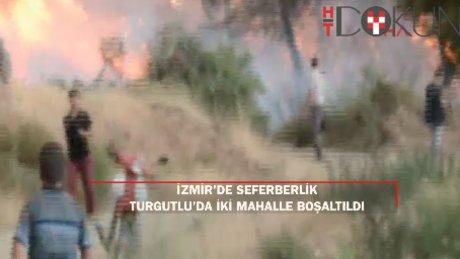 Yangına karşı büyük seferberlik: Turgutlu'da iki mahalle tahliye edildi