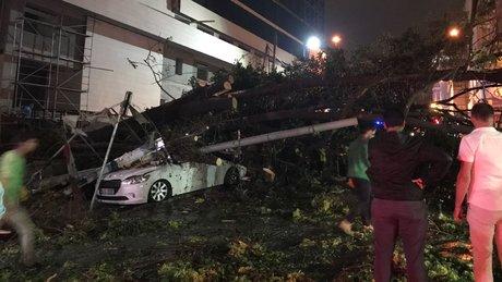 Taksim İlkyardım Hastanesi'nin önü devrilen ağaçlardan dolayı kapandı