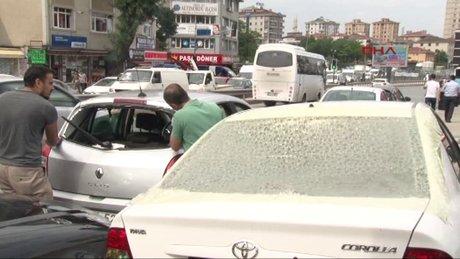 Doludan zarar gören otomobiller tamirhanelerde kuyruk oluşturdu