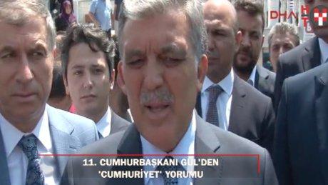 """11. Cumhurbaşkanı Gül: """"Doğrusu gazetecilerin tutuksuz yargılanmaları"""""""