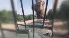 Köy yoluna tuzaklanan patlayıcı imha edildi
