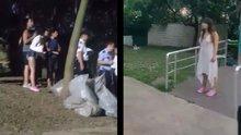 Maçka Parkı'nda kıyafet gerilimi