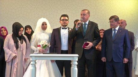 Cumhurbaşkanı Erdoğan, 15 Temmuz şehidinin oğlunun nikah şahidi oldu
