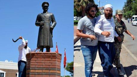 Siverek'te Atatürk heykeline saldıran kişi gözaltına alındı