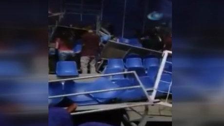 Kolombiya'da sirk tribünü çöktü! Çok sayıda yaralı!