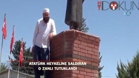 Siverek'te Atatürk büstüne saldıran zanlı tutuklandı