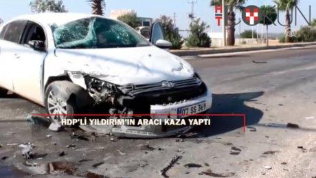 HDP'li Behçet Yıldırım'ın aracı Hatay'da kaza yaptı