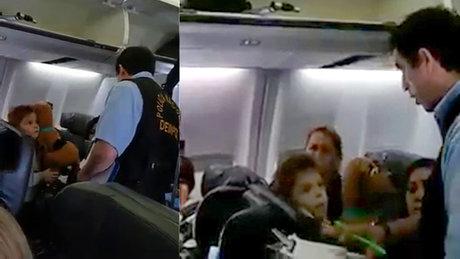Oğluna Business Class'tan battaniye veren kadına gözaltı