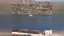 Marmaris açıklarında tekne battı