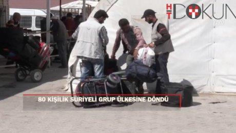 Suriyeli 80 kişilik grup ülkesine döndü