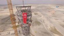 3. Havalimanı'nda uçakların inişlerini kontrol eden kulenin yapımı bitti