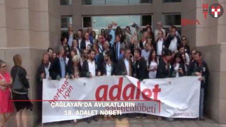Çağlayan'da avukatların 18. Adalet Nöbeti