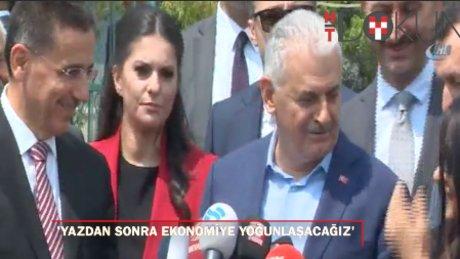 """Başbakan Yıldırım: """"Yaz aylarından sonra gündemimizin ağırlığını ekonomi oluşturacak"""""""