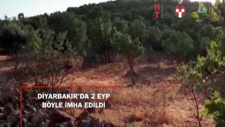 Dicle'de 2 adet el yapımı patlayıcı imha edildi