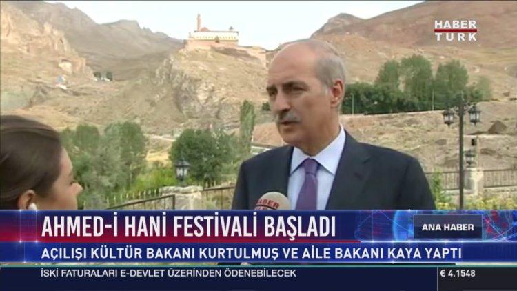 Bakan Kurtulmuş Ahmed-i Xani Festivali'nde Konuştu