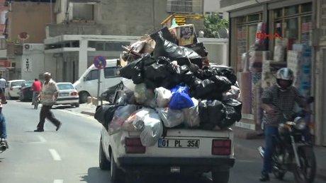 Adana'da 'Çöp otomobil'