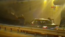 Sultanbeyli'de asker uğurlamasında tünelde silah sesleri
