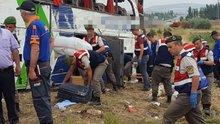 Amasya Merzifon'da yolcu otobüsü devrildi: 6 kişi öldü, 36 kişi yaralandı