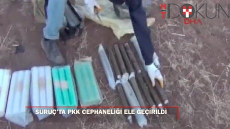Suruç'ta, PKK'nın patlayıcı ve mühimmatları ele geçti