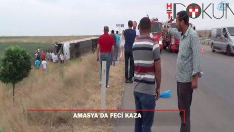 Amasya'da otobüs kazası: 5 ölü, 36 yaralı