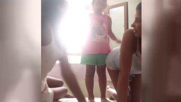 Hatice'den olay video: Hala popon çok sert