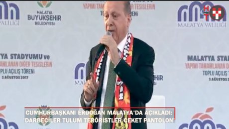"""Cumhurbaşkanı Erdoğan: ''Darbeciler tulum, diğerleri de ceket-pantolon giyecek"""""""