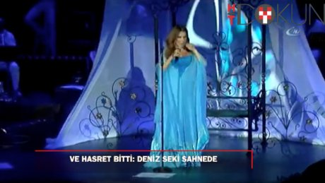 Deniz Seki 3 yıl sonra tekrar sahnede: Gözyaşlarını tutamadı!