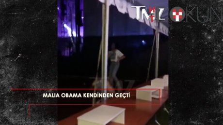 Malia Obama kendinden geçti