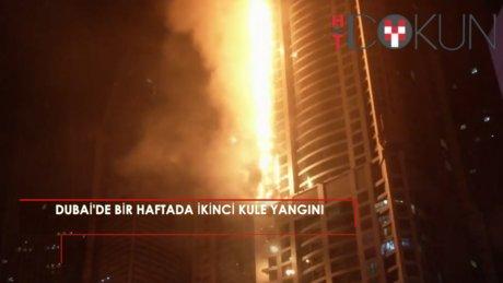 Dubai'de bir haftada ikinci kule yangını