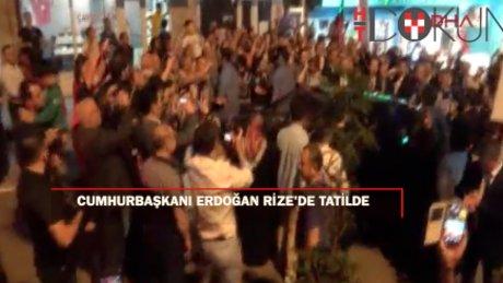 Cumhurbaşkanı Erdoğan, tatil için memleketi Rize'nin Güneysu İlçesi'ne geldi