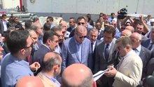 Cumhurbaşkanı Erdoğan, Sarp sınır kapısında incelemelerde bulundu