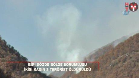 Tunceli'de 2'si kadın 3 terörist öldürüldü: Biri bölge sorumlusu!