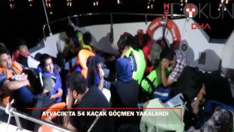 Ayvacık'ta 54 kaçak yakalandı