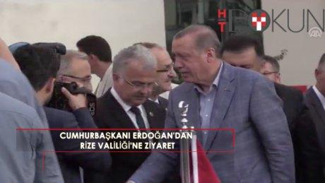 Cumhurbaşkanı Erdoğan, valiliği ziyaret etti