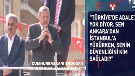 Cumhurbaşkanı Erdoğan Beşikdüzü'nde halka hitap etti