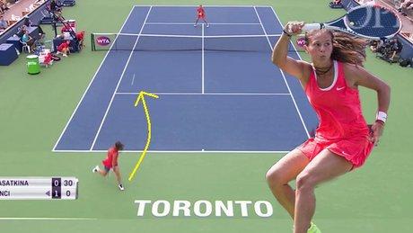 Tenis maçında beklenmedik hamle