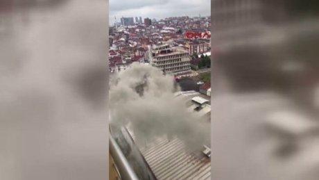 Esenyurt'ta fabrika dumanı site sakinlerini etkiliyor