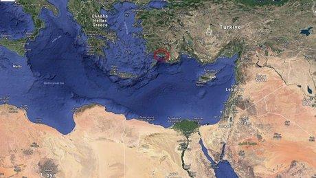 Marmaris depremi harita (temsili)