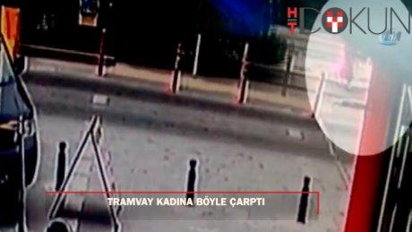 Yolun karşına geçmek isteyen kadına tramvay çarptı