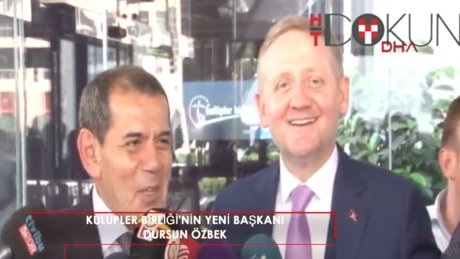 """Dursun Özbek: """"Amacımız, Türk futbolunu ileri taşımak"""""""