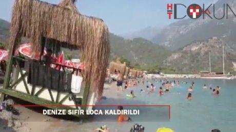 Dünyaca ünlü plajda denize sıfır loca tepkisi