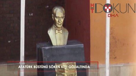 Ümraniye'de Atatürk büstünü söken kişi gözaltında