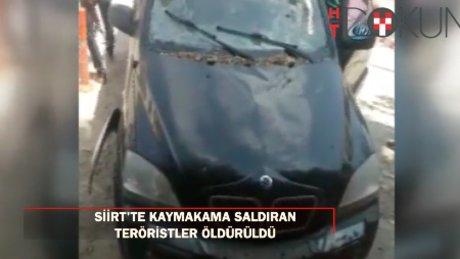 Siirt'te kaymakama suikast girişiminde bulunan 3 terörist öldürüldü