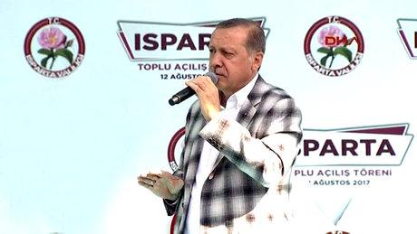 Cumhurbaşkanı Erdoğan Isparta'da önemli açıklamalarda bulundu