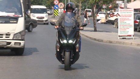 Belediye başkanının makam aracı motosiklet
